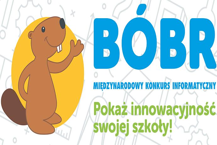 """Z radością informujemy o osiągnięciach uczniów w XV edycji Konkursu Informatycznego """"Bóbr"""" 2020"""