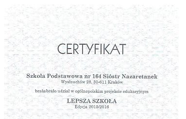Lepsza szkoła edycja 2015/2016
