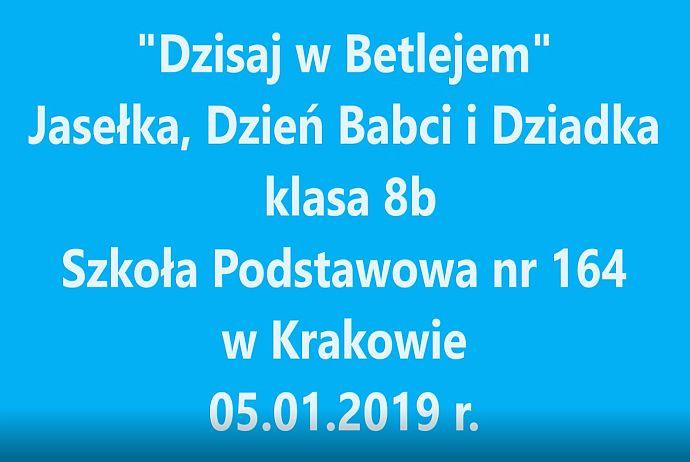 Jasełka klasy 8b 2019 r.