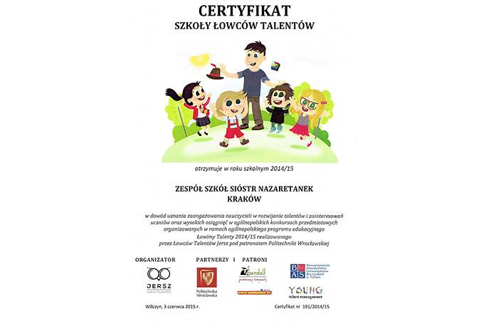 Certyfikat Łowcy Talentów