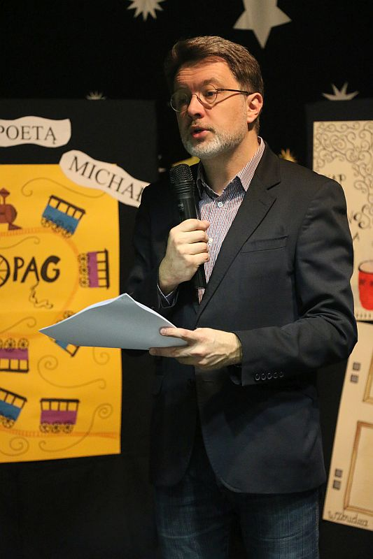 Michał Rusinek gościem w naszej szkole - zdjęcie 1