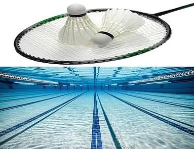 Badminton, pływanie mini