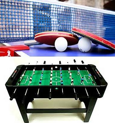 turniej tenisa stołowego i piłkarzyków
